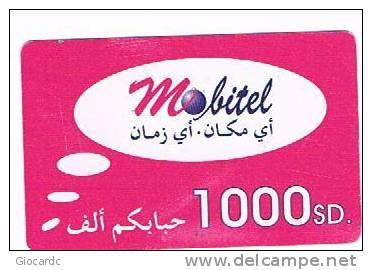 SUDAN  - MOBITEL  (GSM RECHARGE ) -  LOGO  1000 SD EXP. 12.06  -  USED   -  RIF. 866 - Sudan