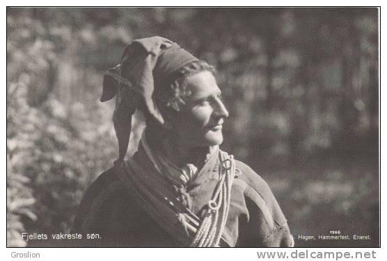 FJELLETS VAKRESTE SON N° 1966 (CARTE PHOTO LAPON NORVEGE 1933) - Norvège