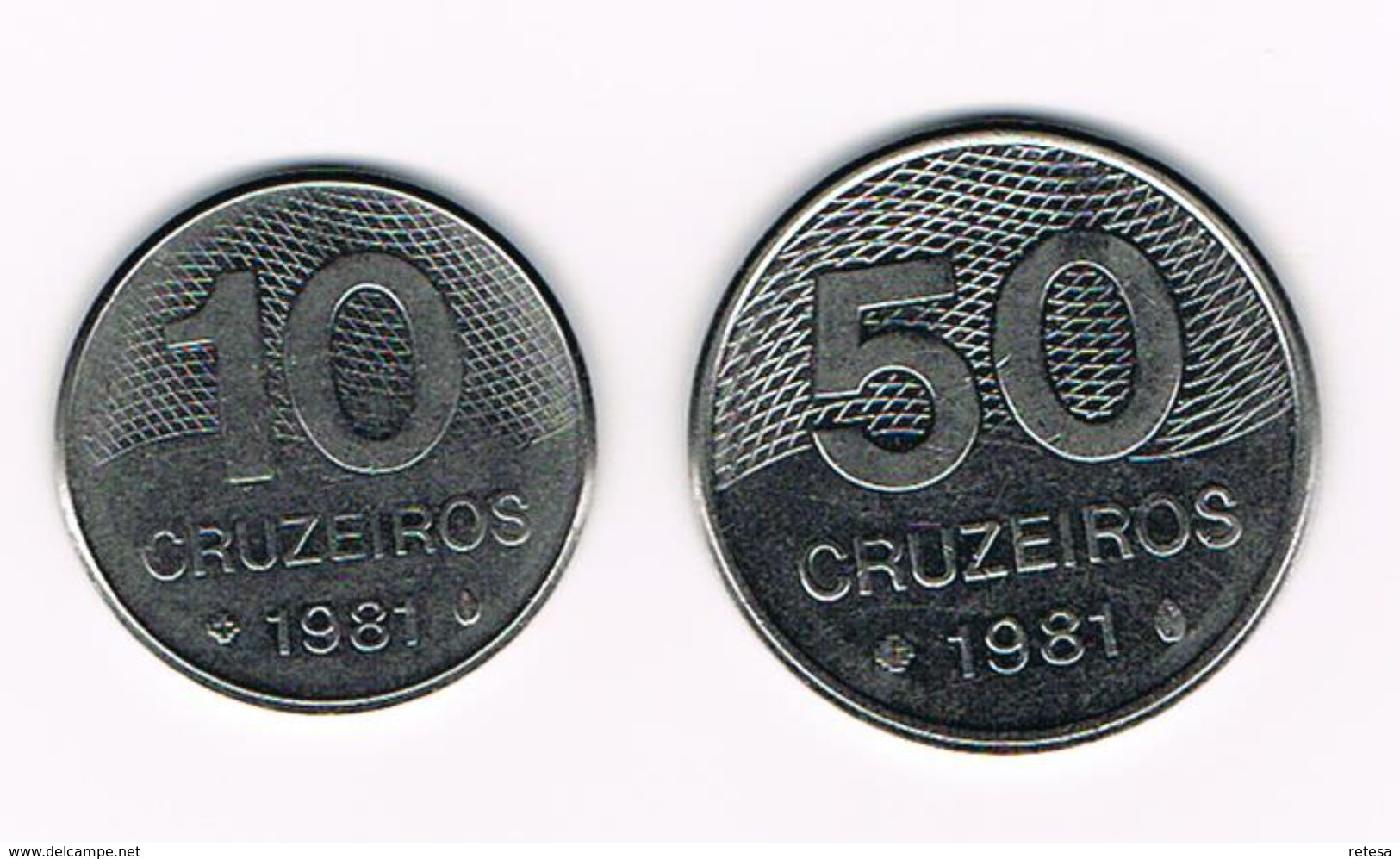) BRAZILIE  10 - 50 CRUZEIROS  1981 - Brésil