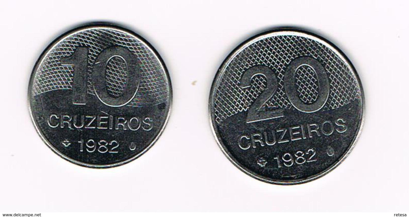 ) BRAZILIE  10 En 20  CRUZEIROS  1982 - Brésil