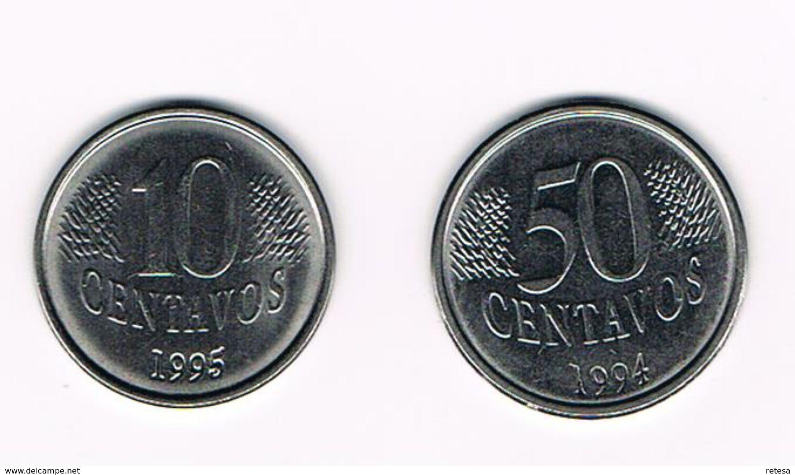 ) BRAZILIE 10 En 50 CENTAVOS  1995/1994 - Brésil