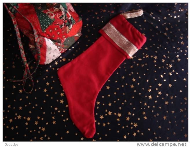 Christmas Boot; Botte De Noël.Rose/vieil Or Confection Pièce Unique, Ruban, Perles 5 Photos. - Creative Hobbies