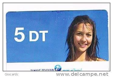 TUNISIA  -  TELECOM  (GSM RECHARGE) - GIRL       -  USED -    RIF. 2650 - Tunisia