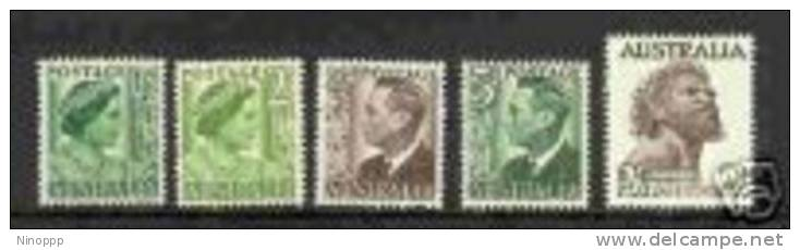 Australia-1950-57 KGVI No Watermark Paper Set 5 ASC 268-271      MNH - Collections