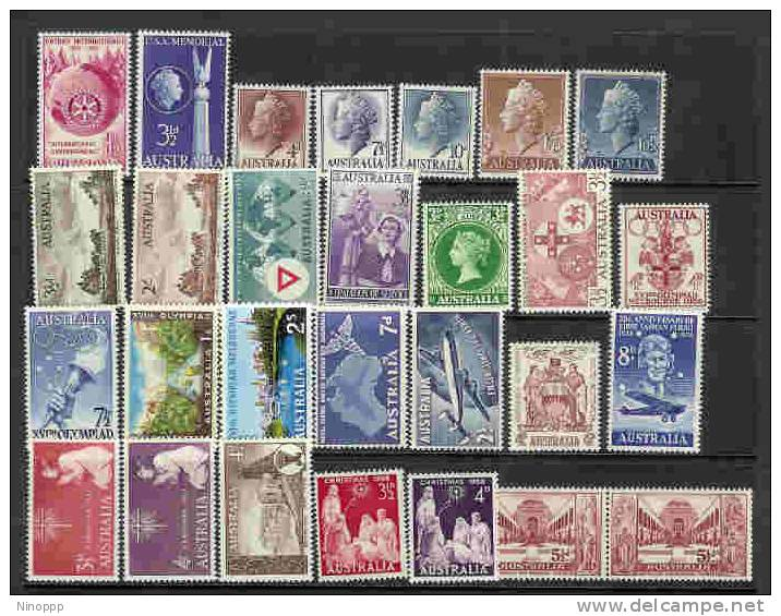 Australia-1955-58 Years ASC 313-340  MNH - Collections