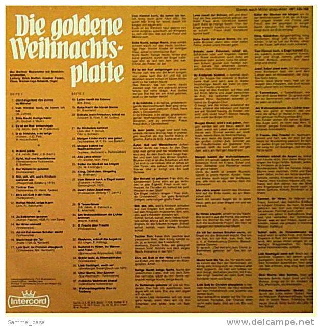 LP Berliner MOZARTCHOR / Die Goldene Weihnachtsplatte  , Die 36 Schönsten  -  Von Intercord , INT 125.08 - Weihnachtslieder
