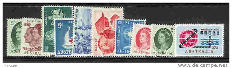 Australia-1963 Year 10 Values,MNH - Collections