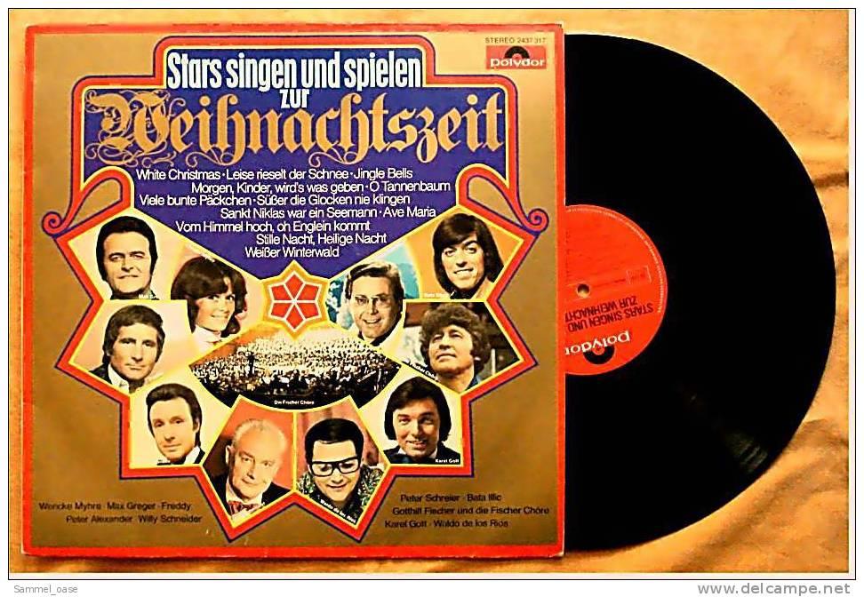 Stars Singen Und Spielen Zur Weihnachtszeit  -  Von Polydor 1976  , 2437 317 - Weihnachtslieder