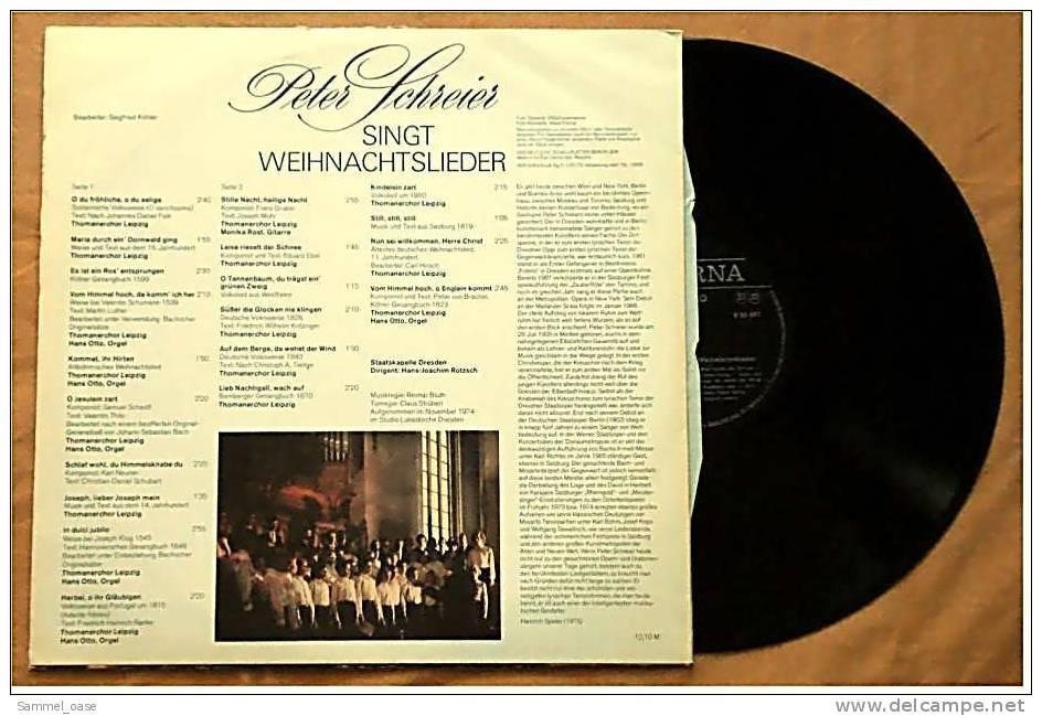 Peter Schreier Singt Weihnachtslieder  -  Von Eterna 8 26 697 - Weihnachtslieder