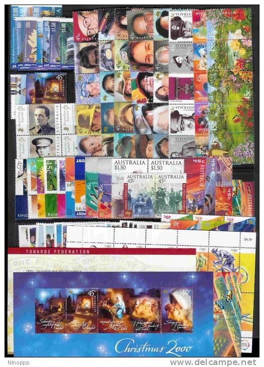 Australia-2000 Year ASC 1784-1892 , 99 Stamps+3MS+1 Sheetlet MNH - Australia