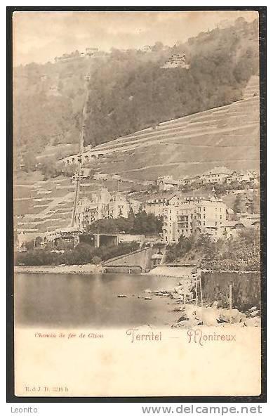 Territet Montreux Funiculaire Territet - Glion Standseilbahn Ca. 1900 - VD Vaud