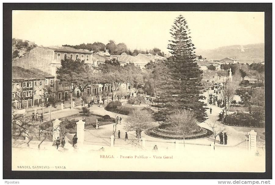 BRAGA (Portugal) - Passeio Publico - Vista Geral - Braga