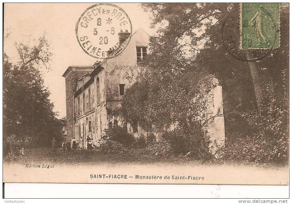 SAINT - FIACRE ( 77 ) - Monastere De St - Fiacre - Nangis