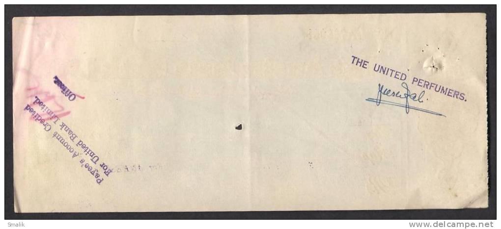 PAKISTAN, The Australasia Bank Cheque 1964 Napier Road Karachi - Bank & Insurance