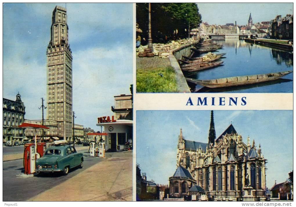 carte postale moderne somme amiens vues station essence total annees 1950 1960. Black Bedroom Furniture Sets. Home Design Ideas