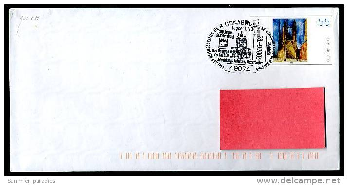 70303a) BRD - GS Michel USo 46 A/01 - Sonder ◙ 49074 Osnabrück Vom 28.9.2003 - Auferstehungskathedrale Kloster Smo - BRD