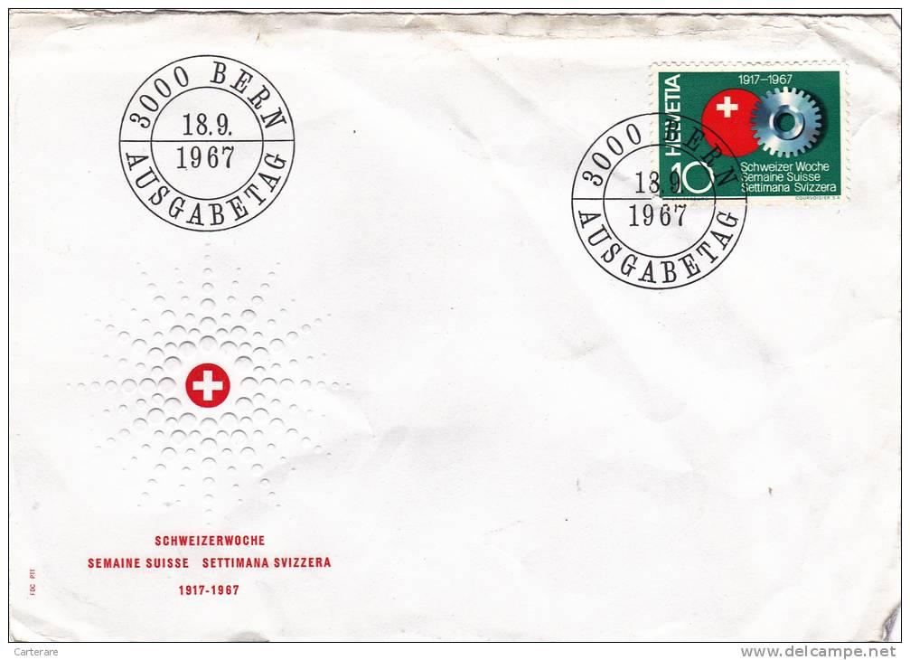 MARCOPHILIE,CROIX ROUGE SUISSE,1967,HELVETIA,SWISS,SWITZERLAND,SVIZZERA,SCHWEIZ,BERN,AUSGABETAG, - Switzerland