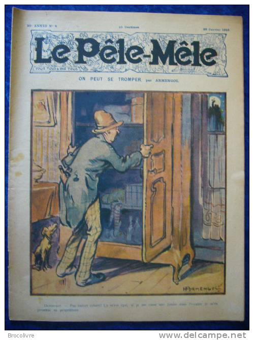 -Le Pele Mêle-26 Janvier 1919-Couverture Armengol-(Rabier,O´Galop,etc....) - Zeitungen