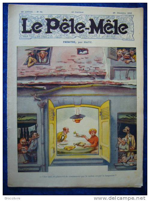 -Le Pele Mêle-28 Decembre 1913-Couverture Haye-(Rabier,O´Galop,Armengol Etc....) - Zeitungen