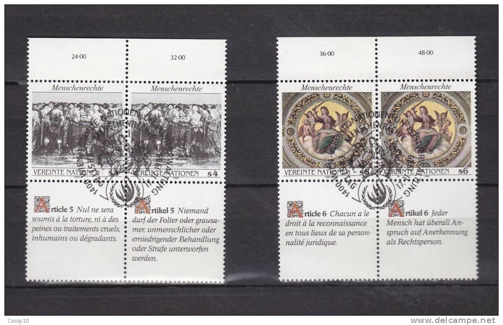 1989      N°96 à 101  OBLITERES              CATALOGUE   YVERT&TELLIER - Centre International De Vienne