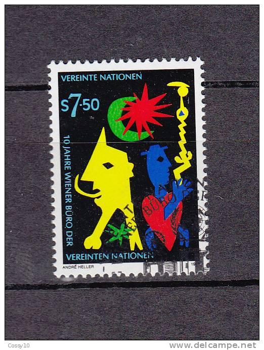 NATIONS  UNIES  VIENNE  1989      N° 95   OBLITERE    CATALOGUE YVERT - Centre International De Vienne