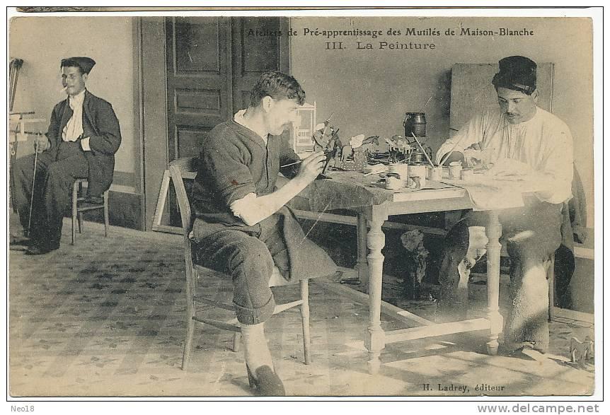 Neuilly Sur Marne  Hopital Maison Blanche Mutilé Guerre 1914 Amputé Peinture De Jouets - Neuilly Sur Marne