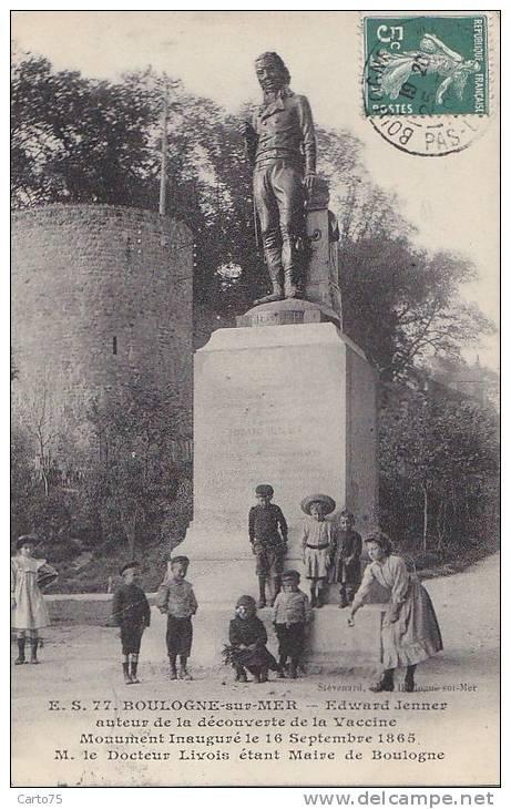 Santé - Médecine -  Boulogne Sur Mer - Monument Jenner - Pétanque Cailloux - Santé