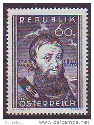 Österreich 1950, ANK 961, Andreas Hofer ** Postfrisch - 1945-60 Ungebraucht