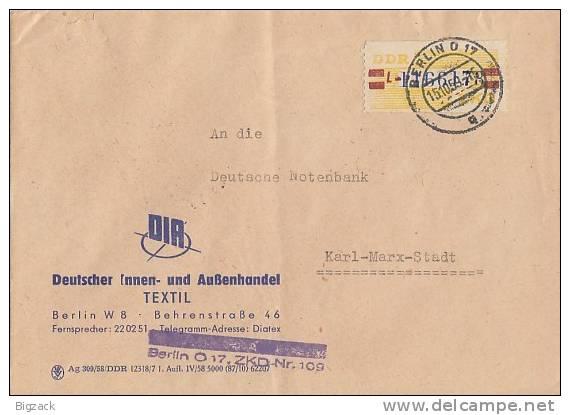DDR Brief Dienst EF Minr.25 Berlin 15.10.59 - DDR