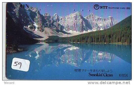 Télécarte Japon * SUISSE Montagne & Lac * Mountain And Lake (59) Japan Phonecard Switzerland Schweiz * - Bergen