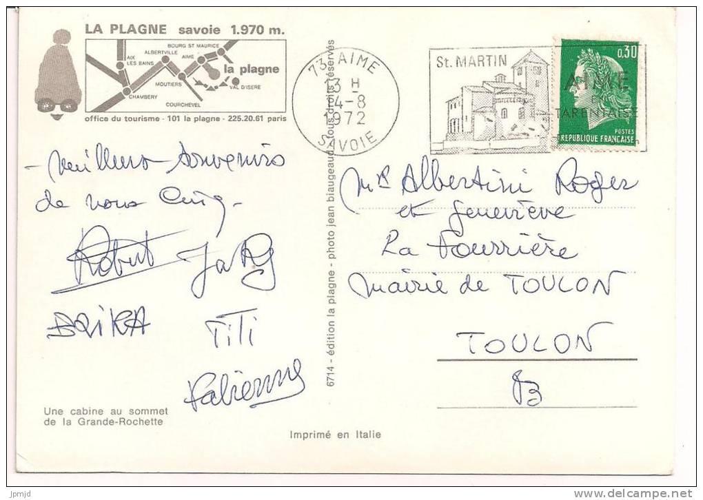 73 - LA PLAGNE - Une Cabine Au Sommet De La Grande-Rochette -  Ed. La Plagne Photo Jean Blaugeaud 6714 - Unclassified