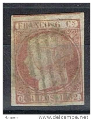 Sellos 6 Cuartos Isabel II 1852, Papel Delgado, Num 12p º - 1850-68 Kingdom: Isabella II