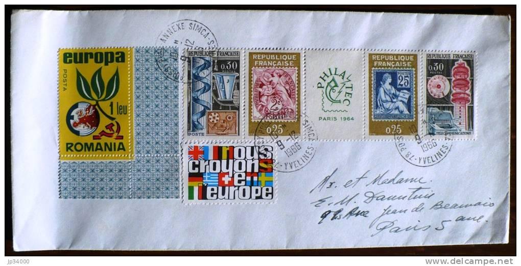 FRANCE: Lettre Avec La Bande PHILATEC 1417A - Marcophilie (Lettres)