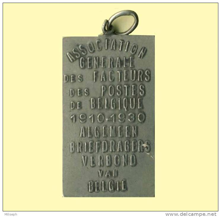 Insigne - Association Générale Des Facteurs De Belgique -  Algemeen Briefdragers Verbond Van Belgie 1910 - 1930  (D1545) - Professionals / Firms