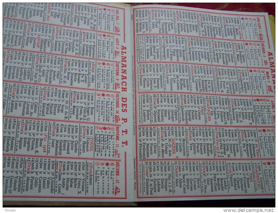 Almanach Des P.T.T. 1963 - Vosges N°88 - VACANCES EN MONTAGNE - Carte Géographique - Calendari