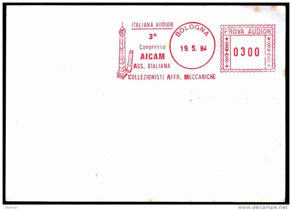 ITALIA BOLOGNA 1984 - 3^ CONGRESSO AICAM - COLLEZIONISTI A. M. - TORRI ASINELLI E GARISENDA - SPECIMEN - NON POSTALE - Altri