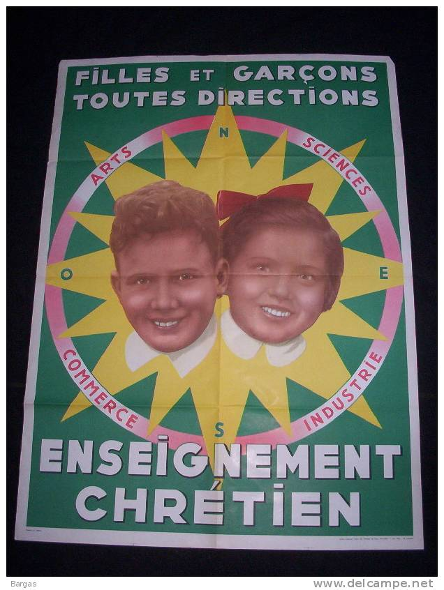 Affiche ENSEIGNEMENT CHRETIEN - Posters