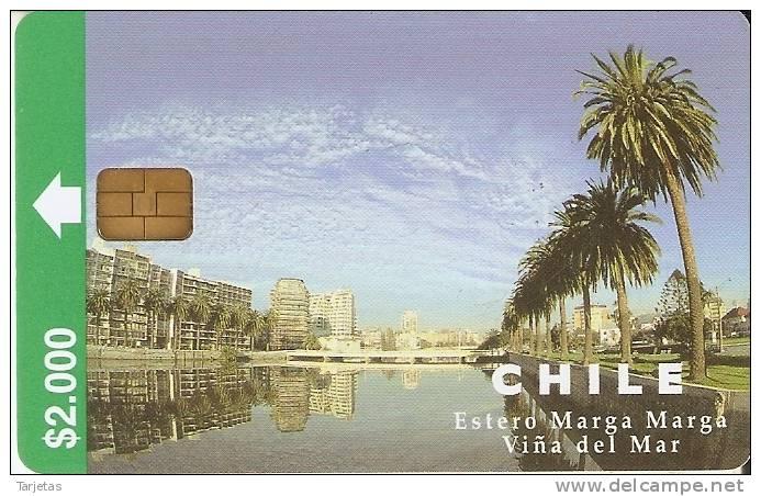 TARJETA DE CHILE DE EL ESTERO MARGA DE VIÑA DEL MAR - Chile
