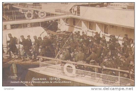 GUERRE 1914/15 SOLDATS BELGES APRES LA CHUTE D'ANVERS - Antwerpen