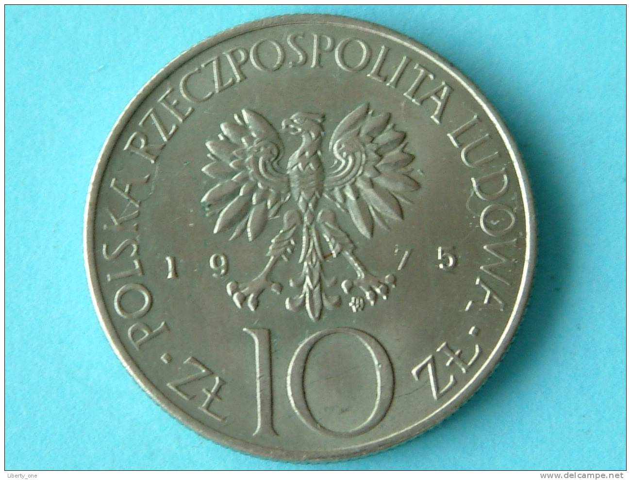 1975 - 10 ZLOTY / Y# 74 ( Uncleaned - For Grade, Please See Photo ) ! - Pologne
