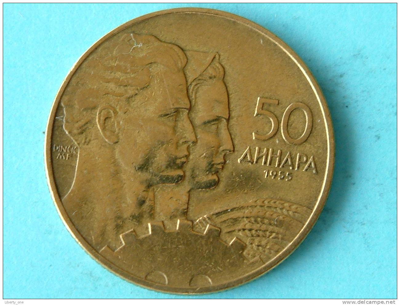 1955 - 50 DINARA / KM 35 ( Uncleaned - For Grade, Please See Photo ) ! - Joegoslavië