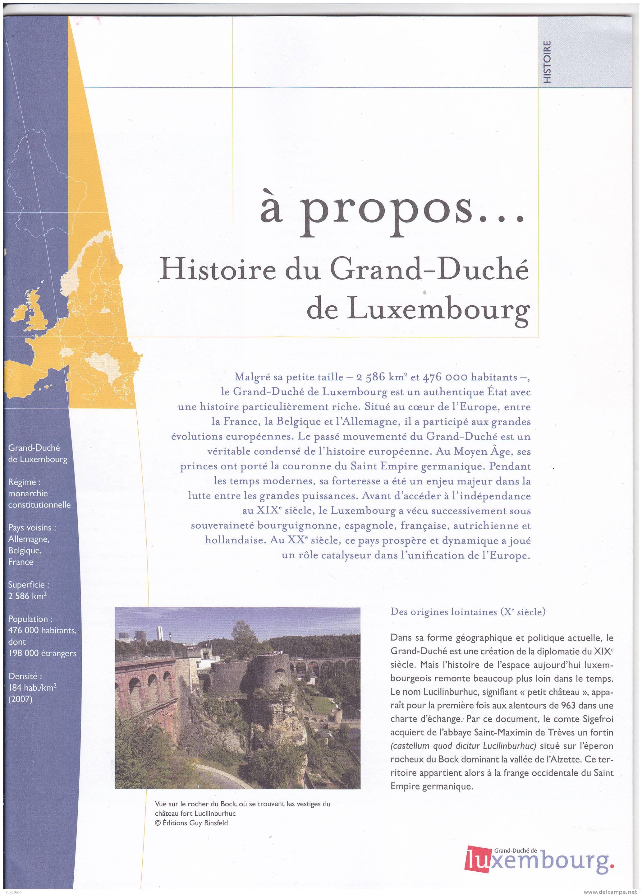 Luxembourg  Histoire Du Grand-Duché De Luxembourg - Boeken, Tijdschriften, Stripverhalen
