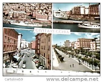 CIVITAVECCH9IA VEDUTE  CENTRO E PORTO NAVE SHIP FERRY VB1969 DN3451 - Civitavecchia