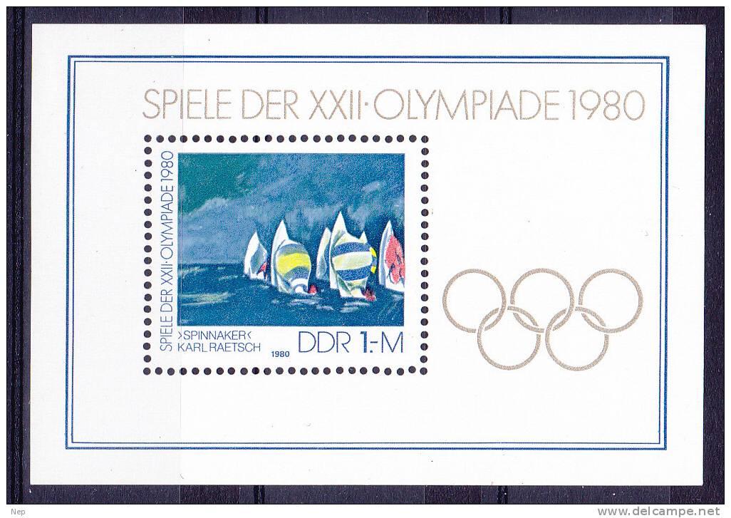 DDR - Michel - 1980 - BL 60 - MNH** - Blocks & Kleinbögen