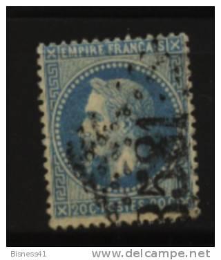 France, N° 29B Oblitération GROS CHIFFRES  N° 3581  // ST ETIENNE  Au Quart De Cote - 1862 Napoleon III
