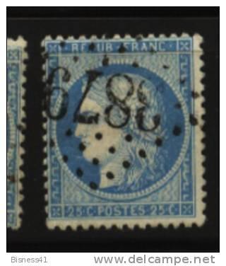 France, N° 60 Oblitération GROS CHIFFRES  N° 3879  // ST VALERY EN CAUX Au Quart De Cote - 1862 Napoleon III