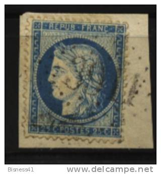France, N° 60 Oblitération GROS CHIFFRES  N° 3911  //  TAUVES Au Quart De Cote - 1871-1875 Ceres