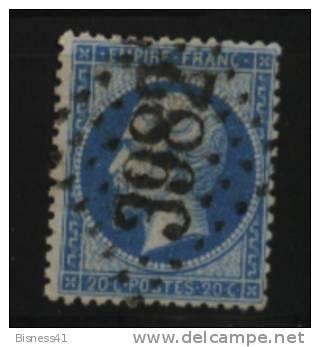 France, N° 60 Oblitération GROS CHIFFRES  N° 3982  //  TOULOUSE Au Quart De Cote - 1862 Napoleon III