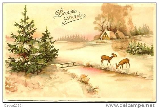 2  CPA  Bonne Année - Neujahr