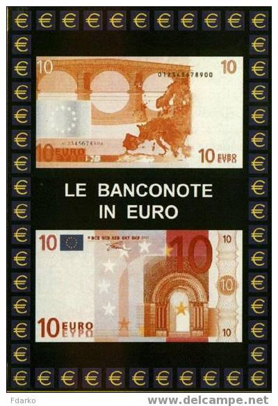 Carte Postale Euro Monnaies Italiennes 10 Euro Billets De Banque Soldi - Monnaies (représentations)